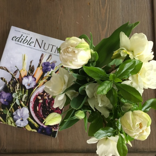 Edible Nutmeg (Spring 2019 edition) and Antique Tulips